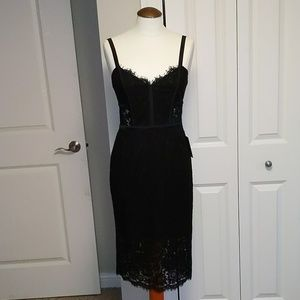 🆕 Express sexy corset style black Lace dress